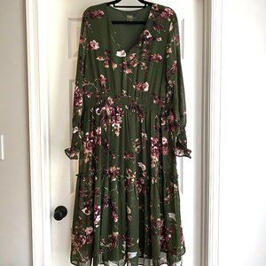 Forrest Green floral maxi dress from Macy's Worn 1